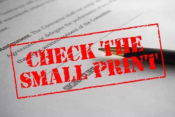 contractors should check the small print on their contracts before they leave a contract early