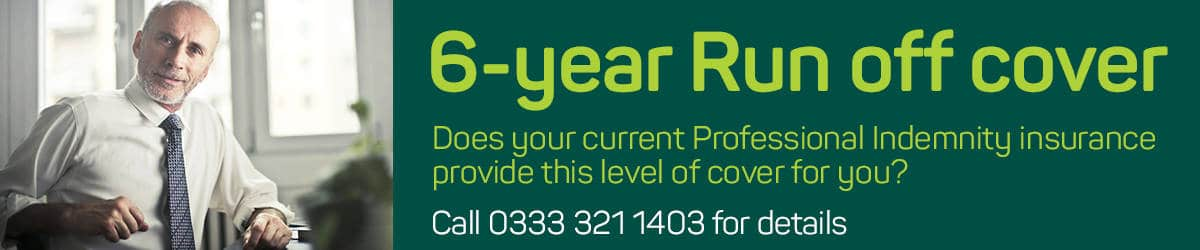 6 year professional indemnity run off cover