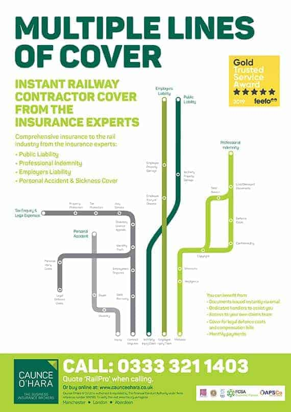 Rail Contractors Insurance Multiple Lines of Cover