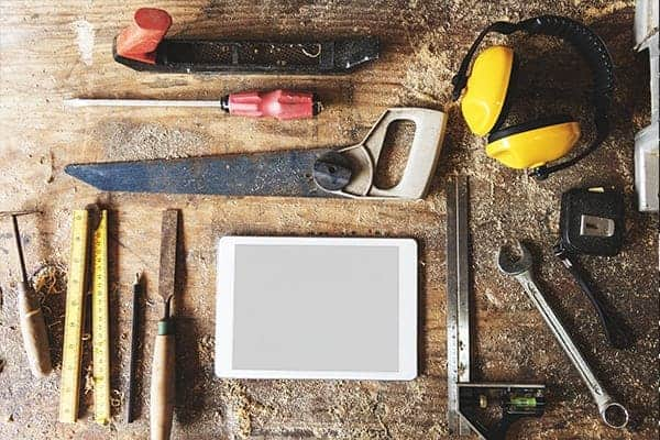 Tradesman tools on site - tool safety