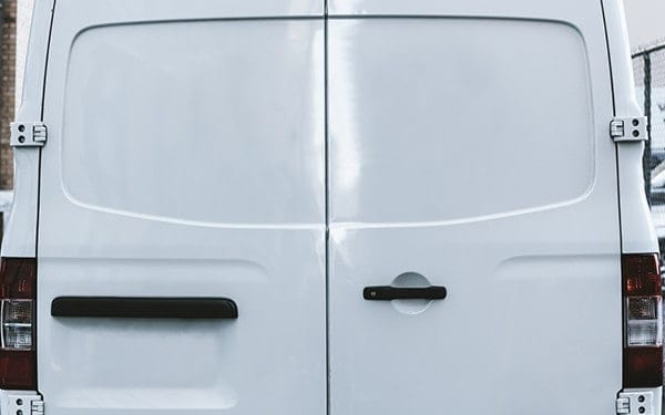 Top tips for keeping your tools safe - The rear of a work van.