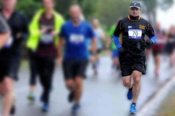 Caunce O'Hara's Marketing Manager, Phil Ainley, running a marathon.