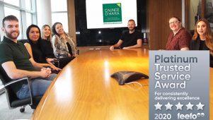 Caunce O'Hara Schemes Feefo Platinum Award